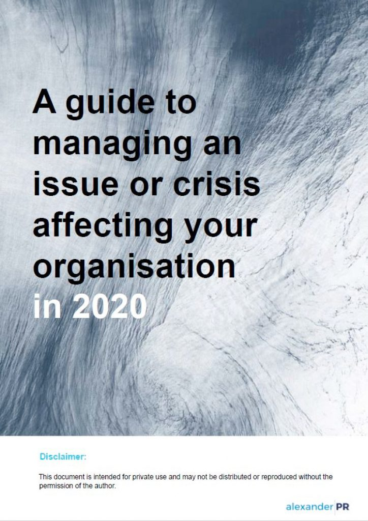 Guide to managing issues and crisis